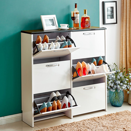 Shoe Cabinets Shoe Rack Living Room Furniture Home Furniture assembly panel shoes rack minimalist modern white color whole sale(China (Mainland))