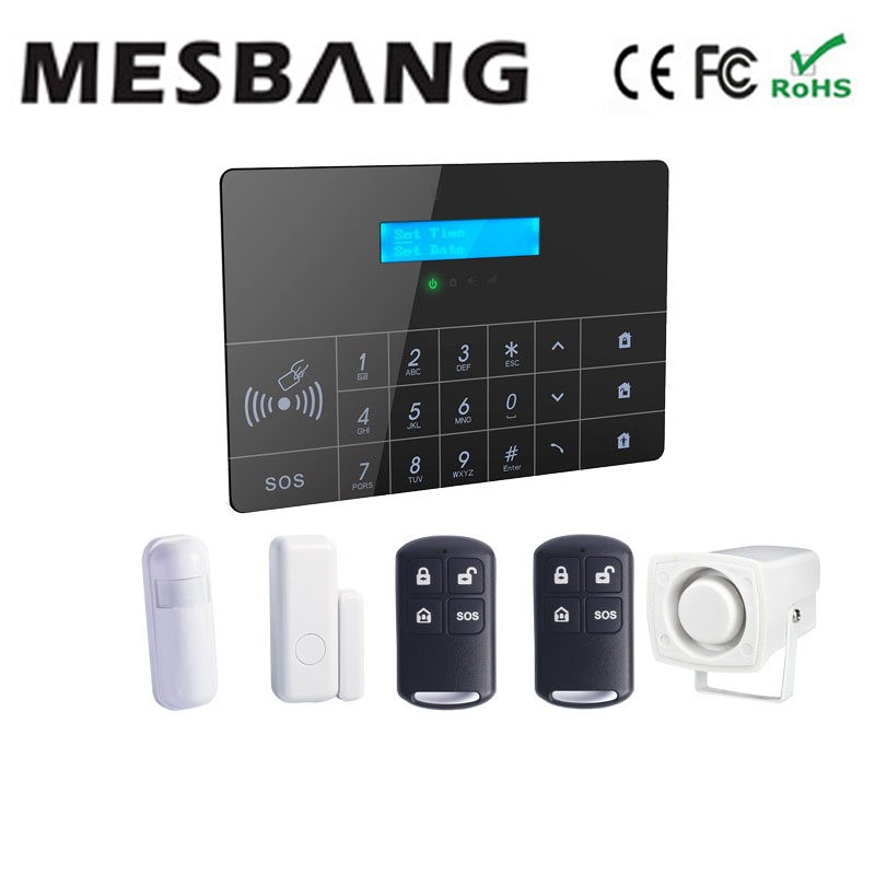 screen touch security alarm systems for homes with mobile app control free shipping(China (Mainland))