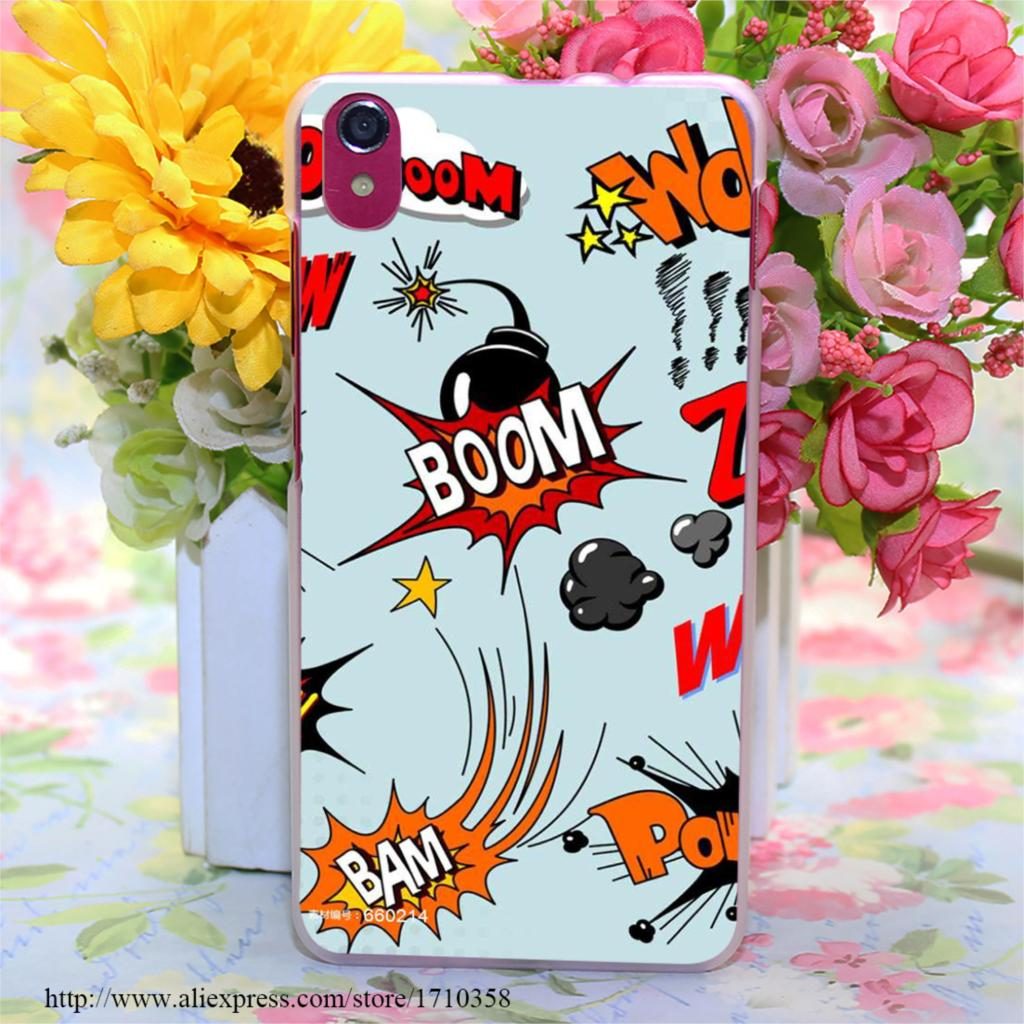comic book boom shakalaka Style Transparent Hard Case Cover for Lenovo S850 S850T S60 S90 A563 A328 A328T(China (Mainland))