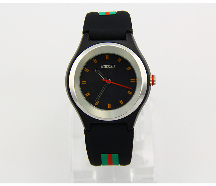 New Arrival KEZZI Brand Women watches Colorful Jelly Watch Men Silicone Band Quartz Watch 30M Waterproof