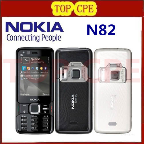 Refurbished Original NOKIA N82 Unlocked GSM Mobile Phone Dual Camera 5MP WIFI 3G GPS Phone 1 Year Warranty Fast Free Shipping(China (Mainland))
