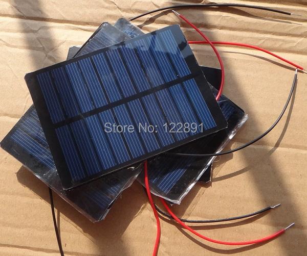 1.3Watt 5V Mini Solar Cell +15CM Cable Solar Module Polycrystalline PET Solar Panel DIY Solar Charger 110*80*3MM Free Shipping(China (Mainland))