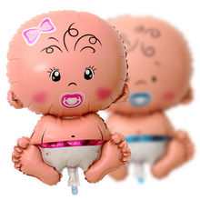 Large Size Boys Girls Cartoon Inflatable Helium Foil Balloon Baby Birthday Paty Christmas Event 100 Day Arrangement Decoration(China (Mainland))
