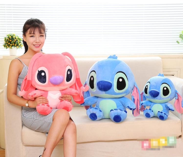 2016 New Disney Stitch! The Movie Short plush toy doll lovers 35cm Baby Stuffed kids toys Preferred Pillow doll girlfriend gift(China (Mainland))