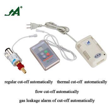 JA8801 Safety off Valve Kitchen Wireless Alarm  Thermal Leak Detector Timing Natural Gas Autoalarm Self Cut System valve ball