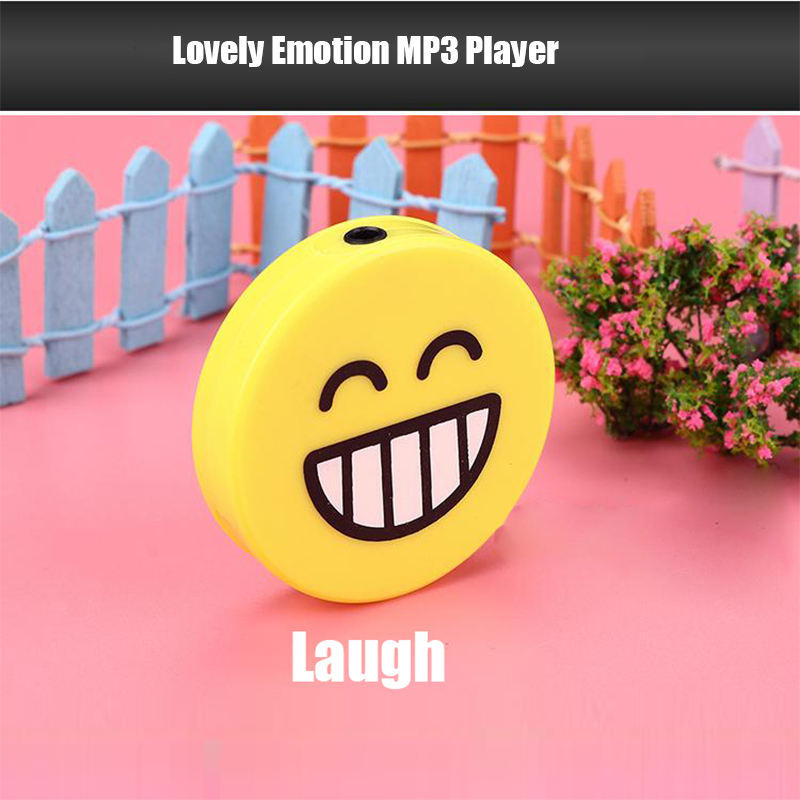 Special Design USB MP3 Player Yellow Smile Face MP3 Music Player Support Micro SD TF Card Music Media #OR49
