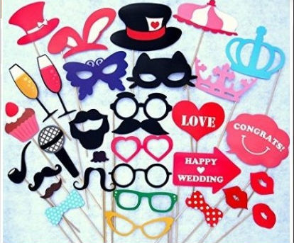 Set of 31 Pack cat glass Wedding Photo Booth Props Party Decorations Supplies Mask Mustache for Fun Favors photobooth photocall(China (Mainland))