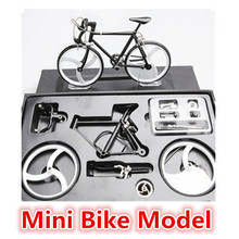 High artificial Zinc Alloy Racing exquisite Bike Bicycle Model front and rear bicycle wheel Children's Festival Gifts(China (Mainland))