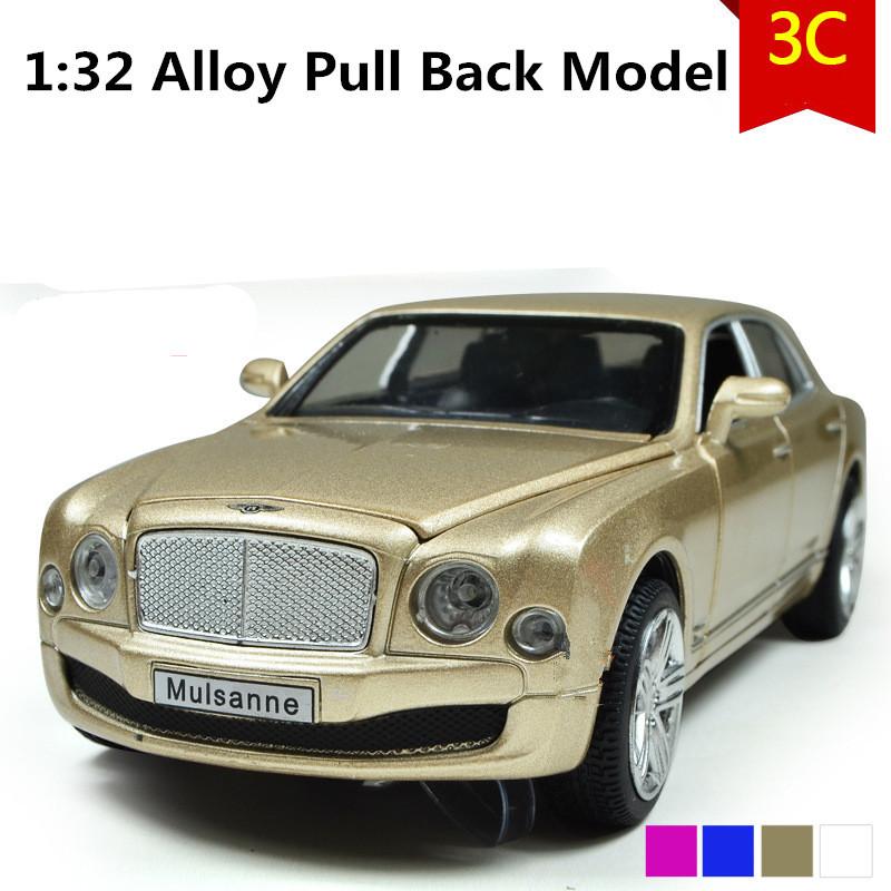 Luxury Bentley Mulasanne car model, 1:32 scale Alloy Pull Back cars,Diecast suv,flashing boy,girls toys,free shipping(China (Mainland))