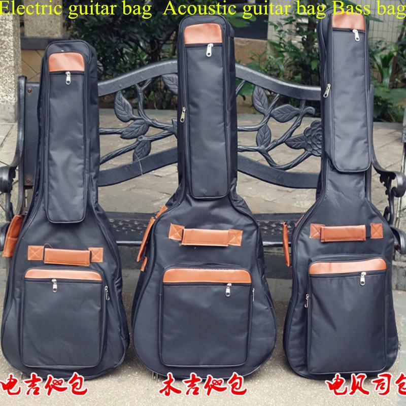 "Portable music 40 41""acoustic electric bass guitar gig bag case funda PU backpack soft holder pocket straps padded waterproof(China (Mainland))"