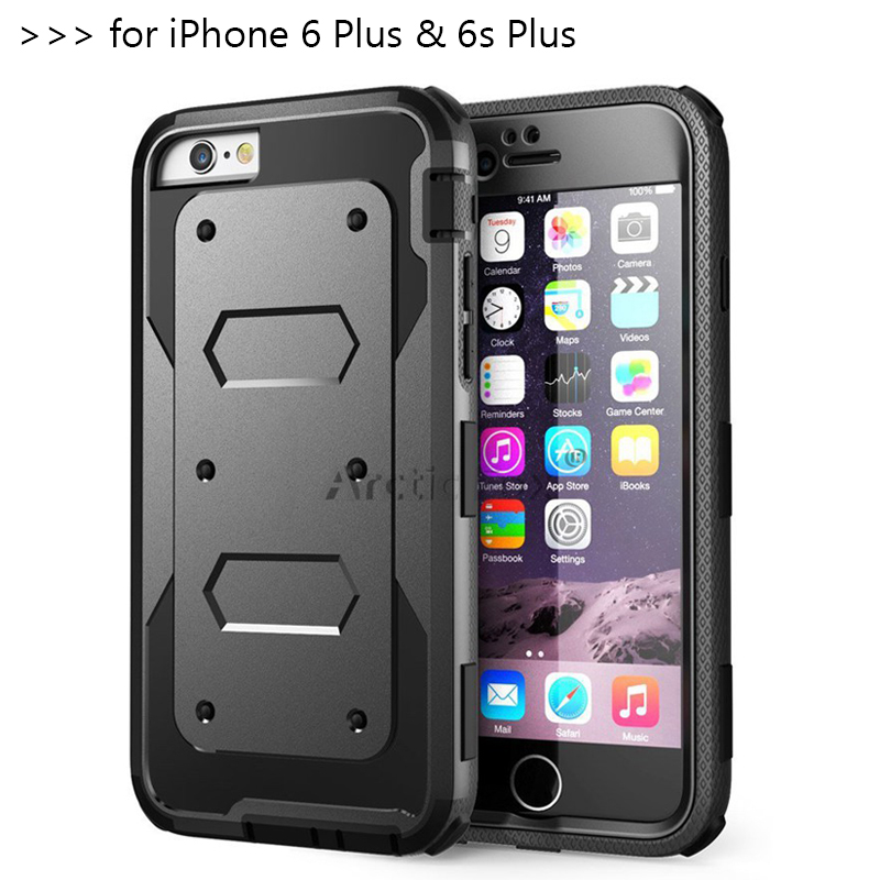 Heavy Duty Hybrid Dual Layer Rugged (Hard & Soft) Anti-strike and Shockproof Armor Phone Case for IPHONE 6 Plus 6s Plus Cover(China (Mainland))