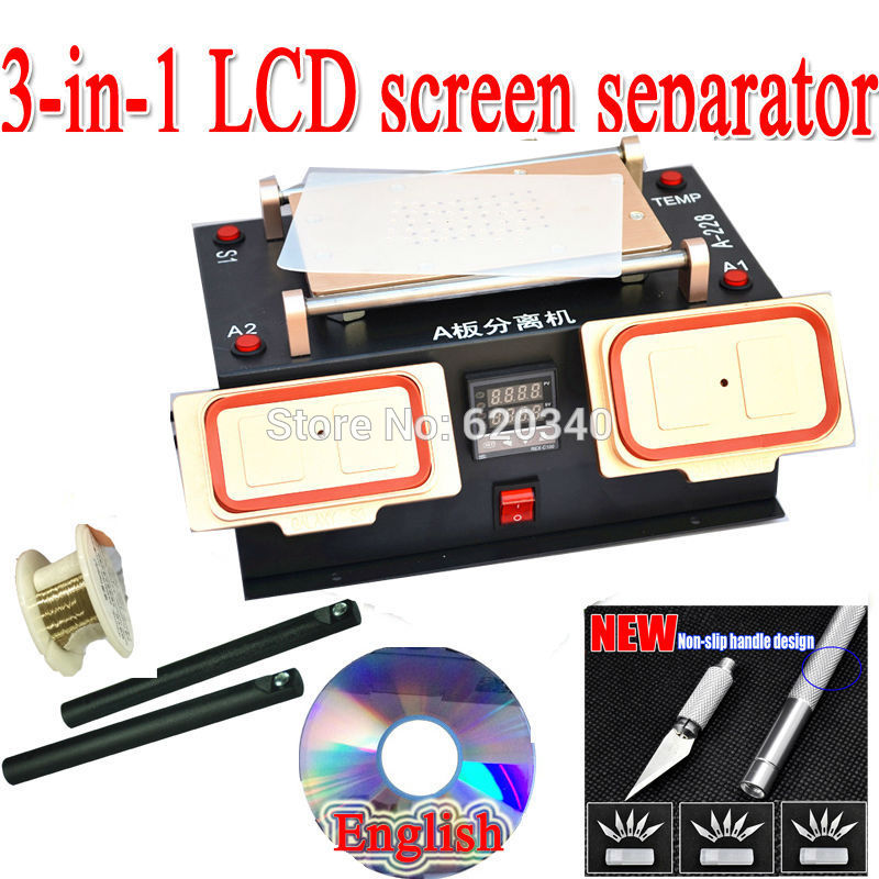 EU NEW 3 in 1 lcd screen separator +Middle Bezel Frame Separate Machine for Samsung galaxy + built-in vacuum pump Free shipping(China (Mainland))