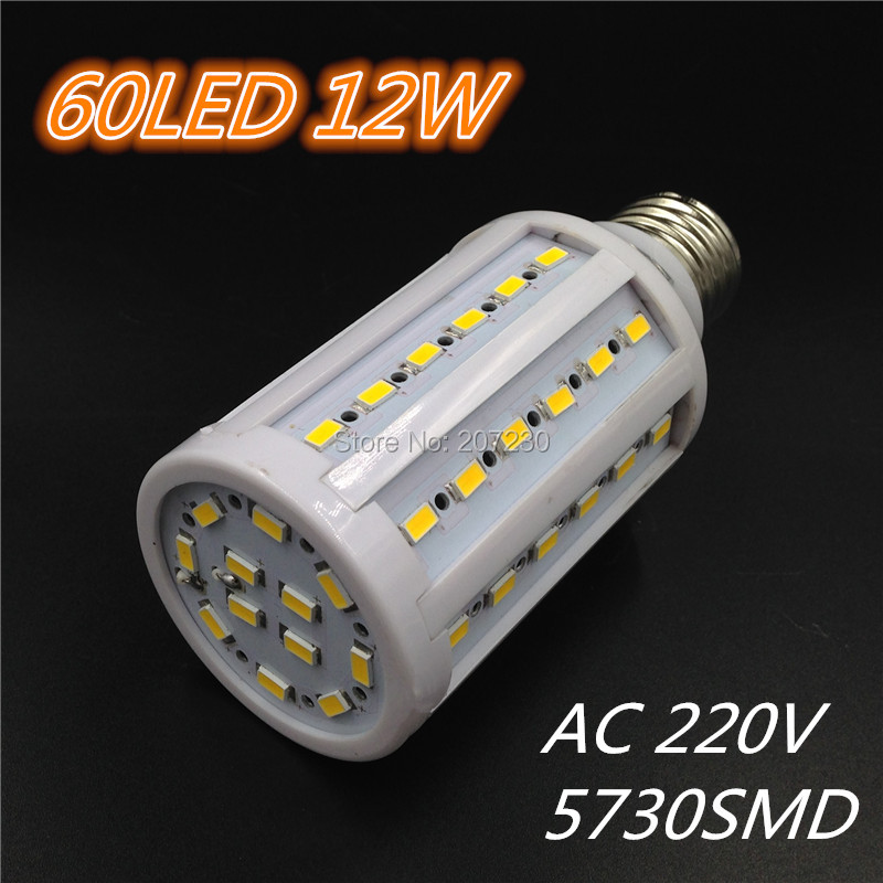 NEW E27 5W 9W 12W 16W LED Bulb SMD 5730 LED Light Corn lamp 220V White/Warm 360 Degree energy saving lamp Free Shipping(China (Mainland))