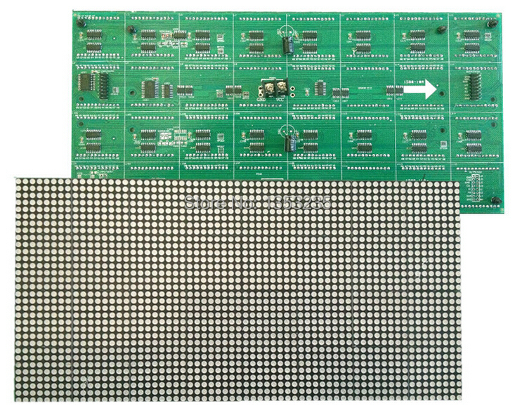 High Resolution P3.75 LED Matrix LED Display Module Red Indoor 44320dots/square meter 64*32 Pixels 304mm*152mm 1/16 Scan(China (Mainland))