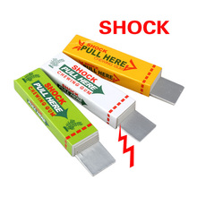 Electric Shock Joke Chewing Gum Pull Head Shocking Toy Gift Gadget Prank Trick Gag Funny(China (Mainland))