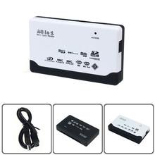 USB 2.0 Card Reader SD XD MMC MS CF SDHC TF Micro M2 Adapter mini card reader Black White - Happy House No.1 store