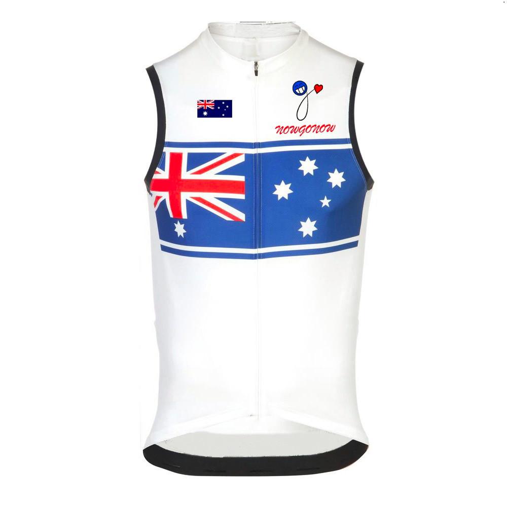 2017 team men sleeveless cycling jersey clothing wear Australia Switzerland swiss National flag team sleeveless bike clothing(China (Mainland))
