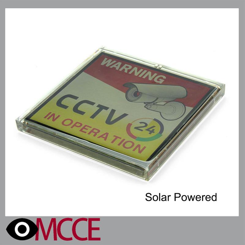 24hr waterproof CCTV warning Solar Powered Flashing Warning Video Recording CCTV warning Sign(China (Mainland))