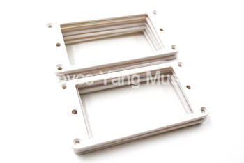 10pcs White Flat Plastic Humbucker Pickup Frame Holder Mounting Ring 3*5mm