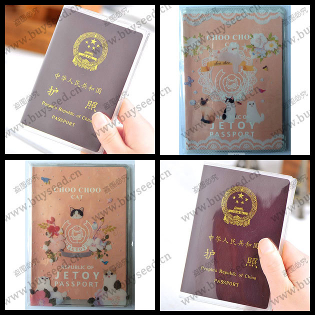 Hot Passport ID Card Holder Protect Cover Case 4 Colors, size 13.3cm * 18.8cm(China (Mainland))