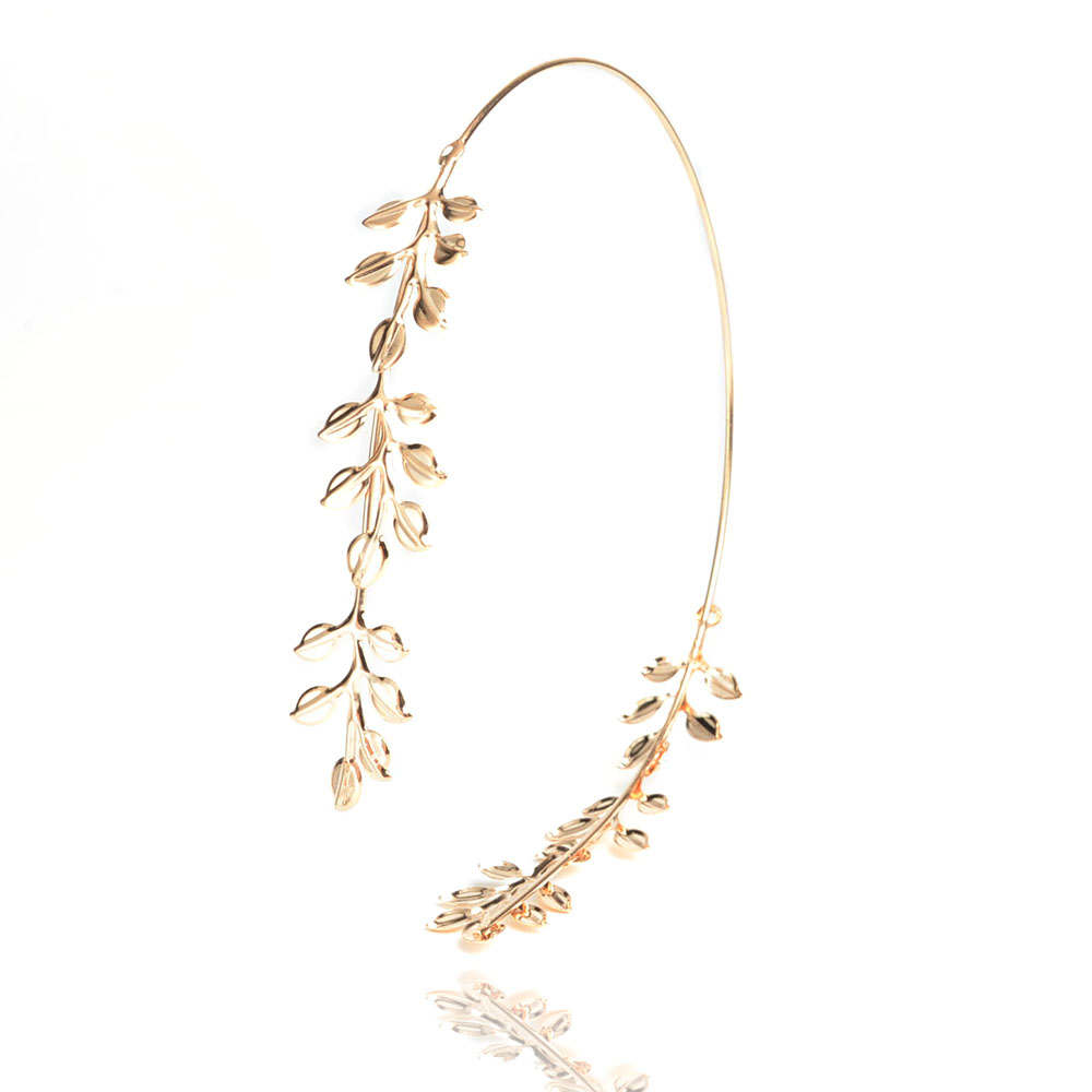 2016 retro baroque tiara headband gold Plated jewelry leaves Bridal hair accessories Head Band accessoire Cheveux Mariage(China (Mainland))