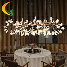 modern creative exhibition hall chandelier villa firefly light bedroom lamp creative personality crystal chandelier(China (Mainland))