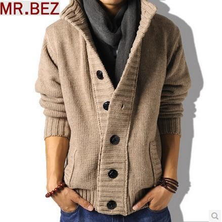 Mens Wool Cardigan Sweater Sale - Gray Cardigan Sweater