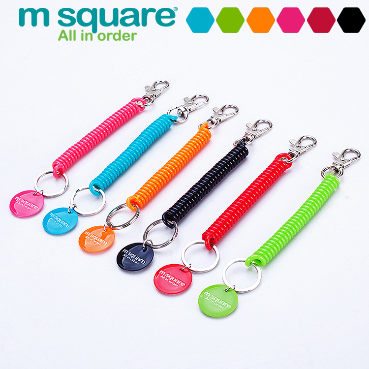M Square 1 Pcs Lanyard Keychain Anti Lost Wallet Phone Strap Cell Key Chain Spring Key Ring Holder Strap<br><br>Aliexpress