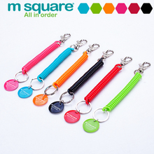 M Square 1 Pcs Lanyard Keychain Anti Lost Wallet Phone Strap Cell Key Chain Spring Key Ring Holder Strap