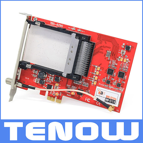 TBS6290 DVB-T2/T/C Dual Tuner Dual CI PCIe Card Enjoy Two Live Terrestrial TV channels At the Same Time(China (Mainland))