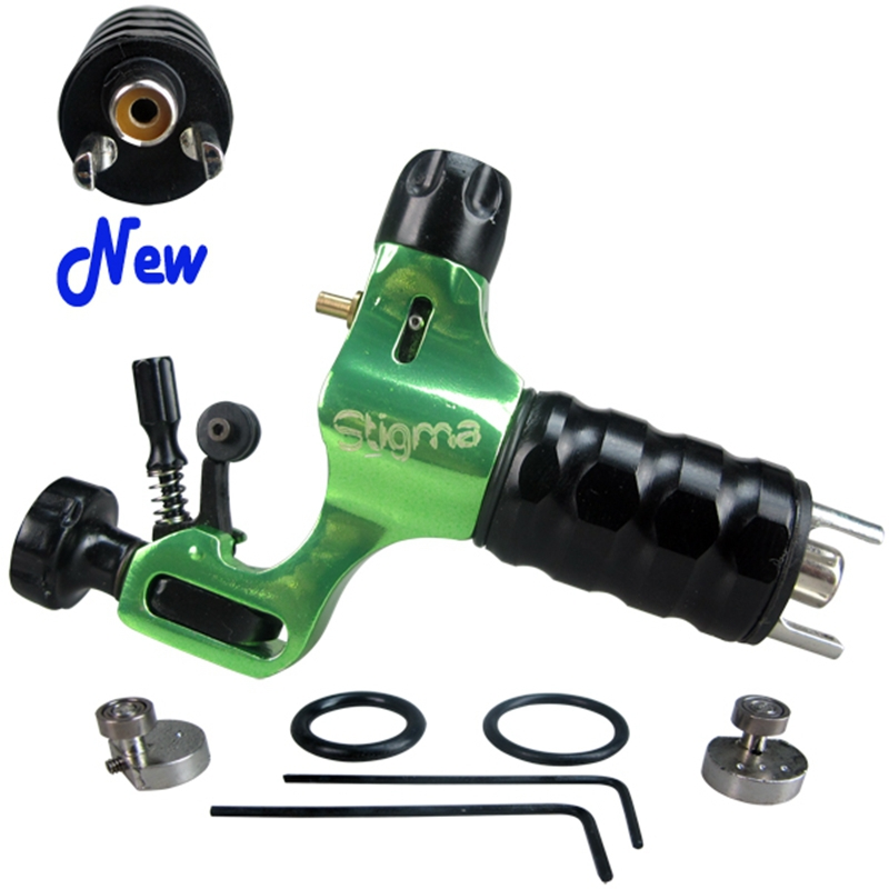 Pro Aircraft Alu Rotary Tattoo Machine Green Color Stigma Prodigy Tattoo Guns For Tattoo Supplies Free Shipping TM-571D(China (Mainland))