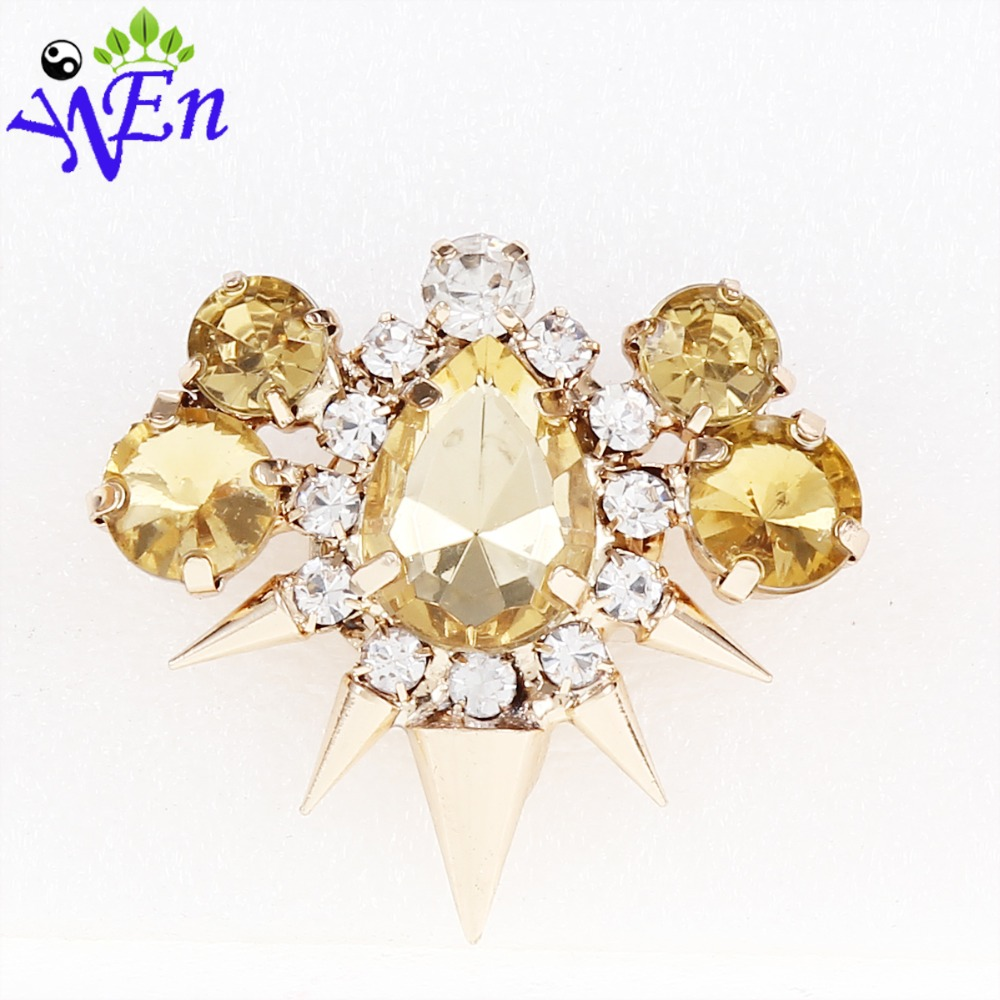 topaz shoe clips for decoration for flower clip metal 2015 new arrived fashion wedding White rhinestone shoe clips N517<br><br>Aliexpress