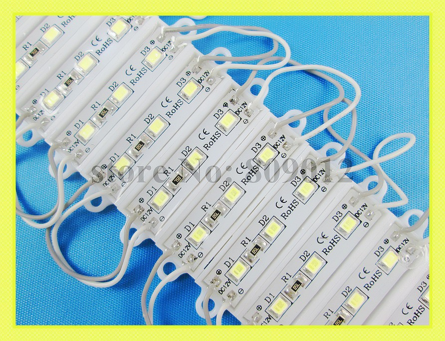 36mm*09mm SMD2835 LED module light advertising light module for sign letter DC12V 0.3W 3led IP66 waterproof 3609 new style(China (Mainland))