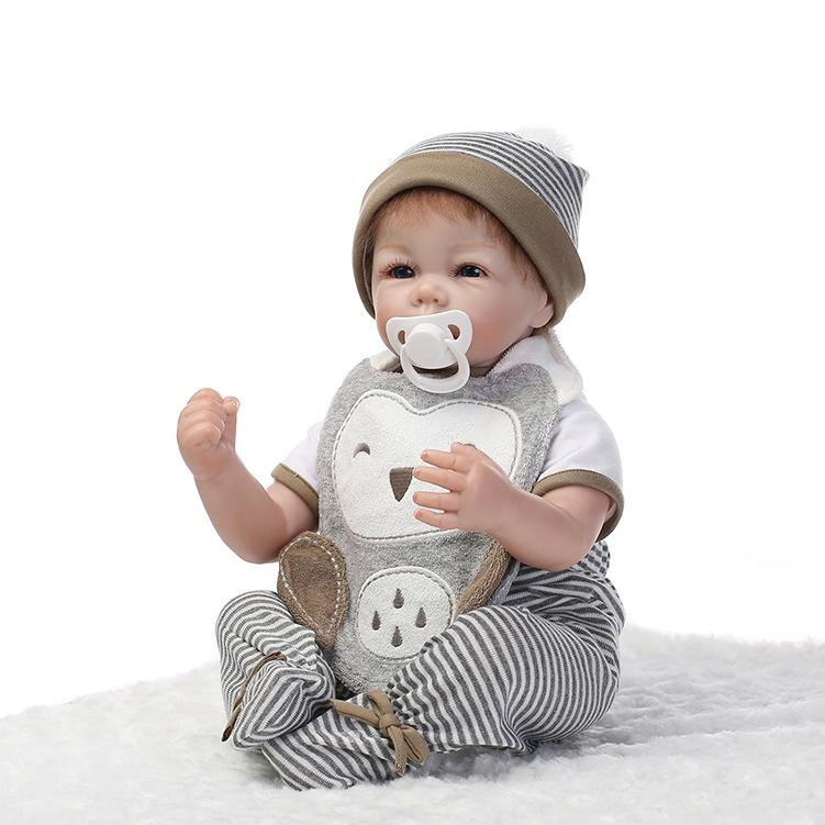 Silicone reborn dolls 20 inch  Reborn baby silicone vinyl dolls handmade realistic lovely baby gift