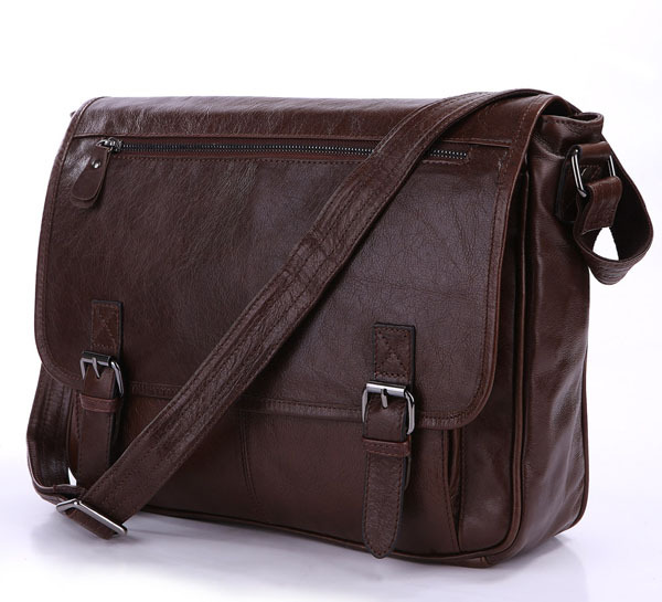 Maxdo High Quality Selection Best Gift Chocolate 100% Real Guarantee Genuine Leather Cowhide Men Messenger Bags #M7022LB(China (Mainland))