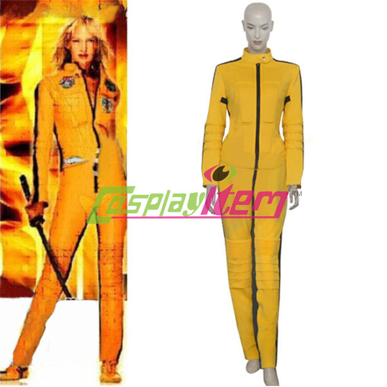 Custom made movie Kill Bill cosplay The Bride Yellow Cosplay Costume  for women party cosplay costumeОдежда и ак�е��уары<br><br><br>Aliexpress