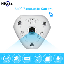 Buy HD 3.0MP WiFi Panoramic Camera 360 Degree e-PTZ Fisheye Network IP CCTV Camera Video Storage Remote IR-CUT Onvif Audio-in hiseeu for $50.15 in AliExpress store