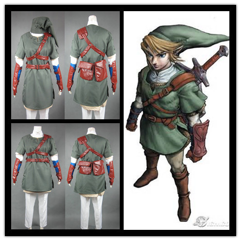 Здесь можно купить  The Legend of Zelda Twilight Princess Sprites Cosplay Costume link Outfit  Одежда и аксессуары