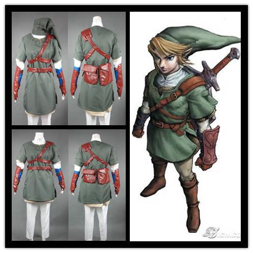 Здесь можно купить  The Legend of Zelda Twilight Princess Sprites Cosplay Costume link Outfit The Legend of Zelda Twilight Princess Sprites Cosplay Costume link Outfit Одежда и аксессуары