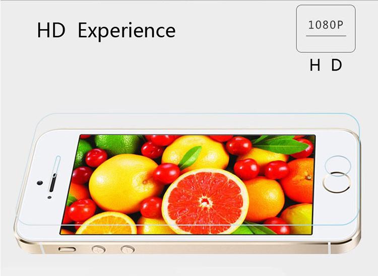Vidro de proteção sobre o para iPhone4 4S 5 5S SE 6 6 S 7 7 Plus Premium Vidro Temperado Protetor de Tela HD Temperado película Protetora filme