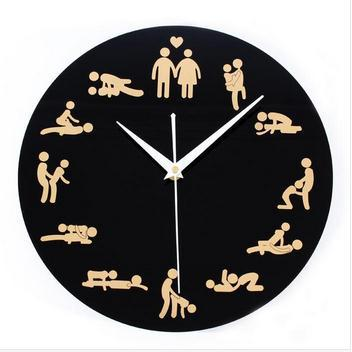 Modern personality fashion creative clock clock bedroom wall clock birthday gift creative Sexy Positions CLock personality(China (Mainland))