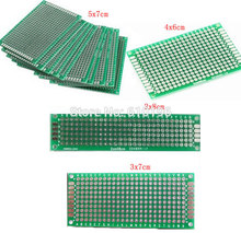 Buy 4PCS/LOT 5x7 4x6 3x7 2x8 CM Double Side Copper Prototype PCB Universal Board Experimental Development Plate Arduino for $1.44 in AliExpress store