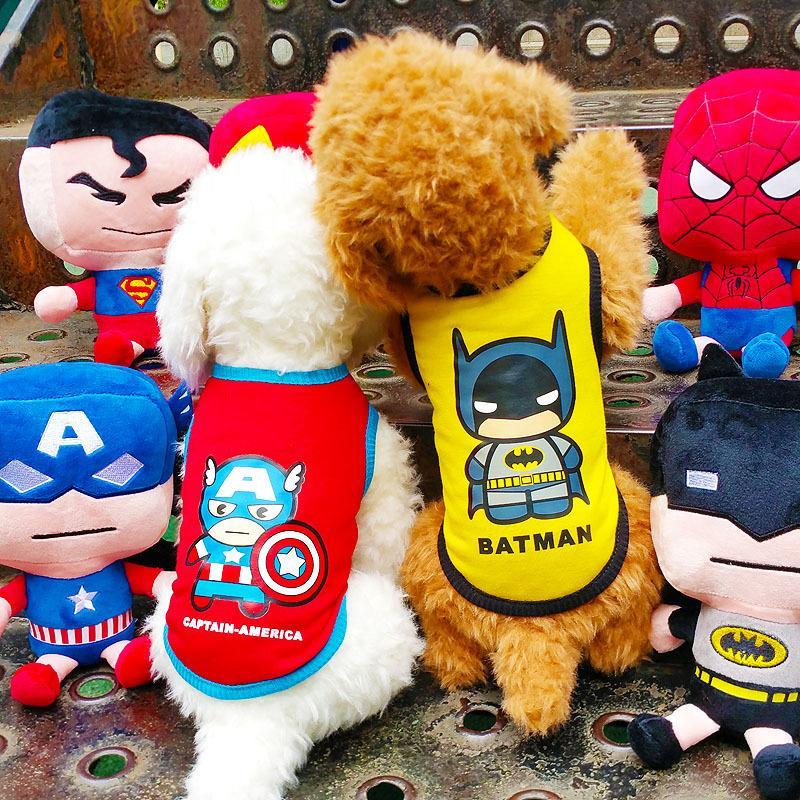 Best pet Dog Clothes Vest Superman captain spider man High Fashion For Pet Dog Clothes Clothing