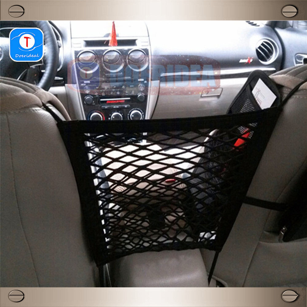 wholesale car seat net bag general seat storage net bag velcro double layer trunk storage bags. Black Bedroom Furniture Sets. Home Design Ideas