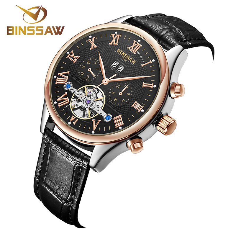 mens talking watches promotion shop for promotional mens talking high quality binssaw tourbillon men watches top brand luxury business waterproof watches men automatic mechanical wrist watches