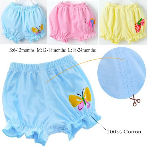 1PC Baby Bloomers Children 100% Cotton Girls Pants fkr Kids Cute Shorts Boys 3 Colors 0-2 Years Old - Child Fashion Supermarket store