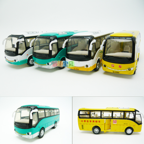 4 car model school bus small bus acoustooptical alloy WARRIOR car(China (Mainland))
