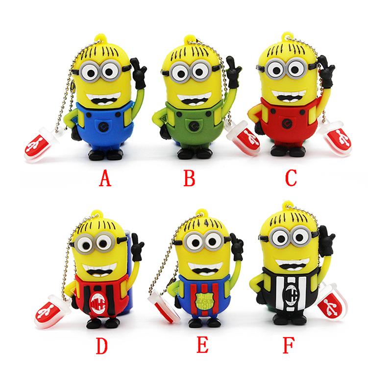 Hot Sale minions usb flash drive Cute Despicable Me 2 USB 2.0 Pen Drive 8gb 16gb Memory stick pendrive 32gb gift/thumb/drive(China (Mainland))