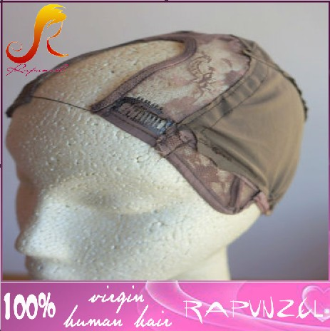 Hot sale U part brown lace wig cap for wig making<br><br>Aliexpress