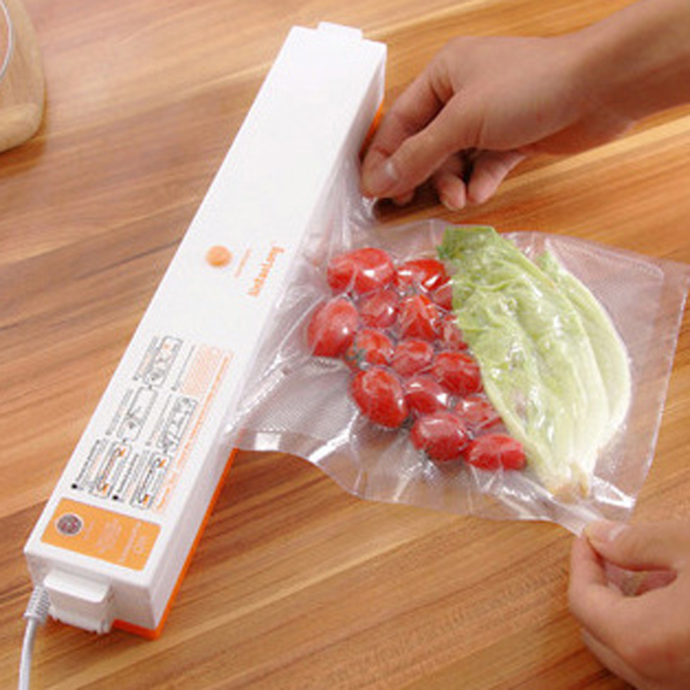Free shipping Automatic Electric Household Food Vacuum Sealer Packaging Machine Film Sealer Vacuum Packer Hot Sale In Russian(China (Mainland))